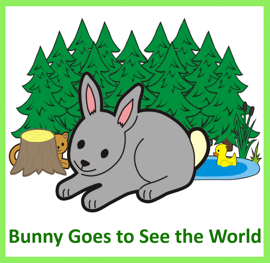 Bunny goes to see the world